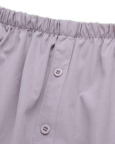 StyleDome Damen Bardot-Ausschnitt Schulterfrei Chiffon Kurzärmel Oberteil Party Abend Mini Kleider Grau