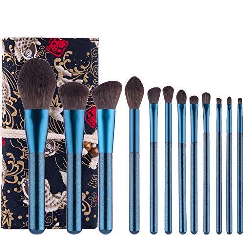12 Unids Set pinceles maquillaje profesional Kit herramientas