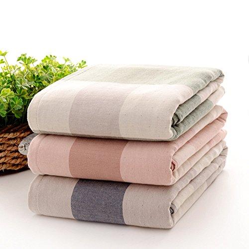 Puro Cotone garza ispessimento assorbente Asciugamani ( Colore : Rosso ) Verde