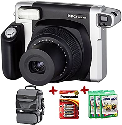 Fuji Instax 300 Wide Instant Camera bundle