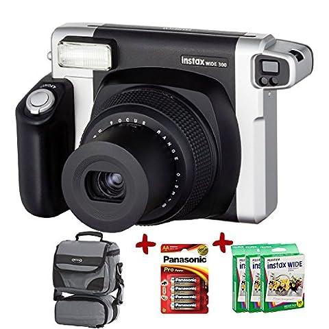 Bundle Fujifilm Instax 300 Wide Instant Camera +70-Shot Fuji Wide