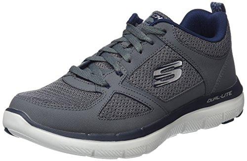 Skechers 52180 Flex Advantage 2.0 - Zapatillas Hombre, Gris (Charcoal/Blue), 43
