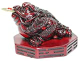 Fortune Coin Red Three Legged Money Toad...