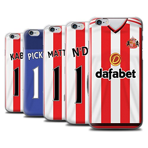 Offiziell Sunderland AFC Hülle / Case für Apple iPhone 6S / Pack 24pcs Muster / SAFC Trikot Home 15/16 Kollektion Pack 24pcs