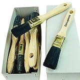 ROTIX-9191 6 x Flachpinsel Lackier-Pinsel 12. Stärke Profi-Qualität 6er-Pack