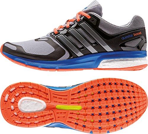 Adidas Questar Boost TF M B22943 für Herren Schwarz Grau / Blau / Schwarz / Orange