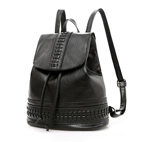 Kleiner Rucksack Frauen Umhängetasche Schultertasche Tasche LMMVP (Black) (Kleidung Ziel Frauen)