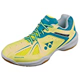 Yonex Power Cushion 35 Ladies Badminton Shoes, Color- Yellow/Blue, Shoe Size- 5 UK