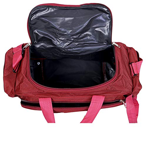 f13bd040a 81% OFF on Nice Line Maroon Polyester 40 litres Inch Travel Duffle Bag/ Trolley Bag/Cabin Luggage on Amazon | PaisaWapas.com