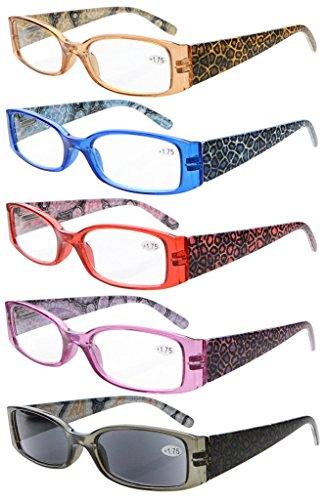 eyekepper-5-raccordi-osso-piume-cerniera-per-in-plastica-lettura-occhiali-tiger-gemusterte-mix-250