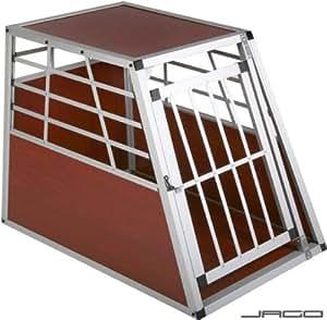 Leopet® - Cage de transport pour le transport de chiens - HK03 - en aluminium et bois