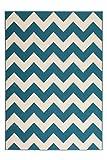 Teppich Wohnzimmer modern Carpet geometrisches Design RUG Manolya 2095 Türkis 160x230cm | Teppiche günstig online kaufen