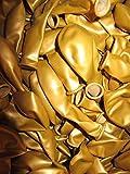 50 Luftballons Metallic Ø 28 cm Farbe frei wählbar Ballons Helium Luftballon (Gold)