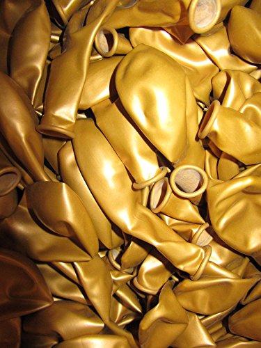 lic Ø 28 cm Farbe frei wählbar Ballons Helium Luftballon (Gold) (Luftballons Metallic Gold)