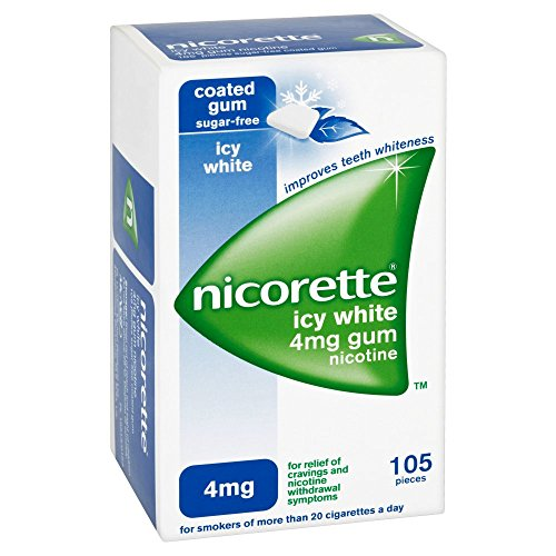 Nicorette 4 mg Icy White Gum – Pack of 105 Gums