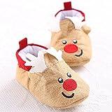 Gugutogo Cute Santa Claus Eule Elch mit weichen Sohlen Slip-On Baby Pre-Walker Baumwollschuhe (Farbe: mehrfarbig) (Größe: 12cm)