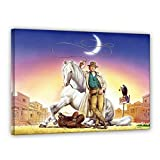 Terence Hill Bud Spencer Leinwand - Lucky Luke - Renato Casaro Edition (80 x 60 cm)