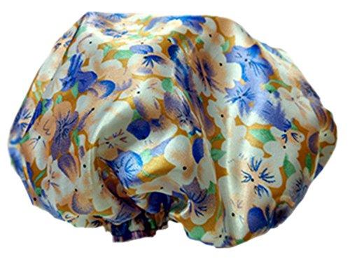 2PCS satin et PVC multifonctionnels double couches de douche, fleur A