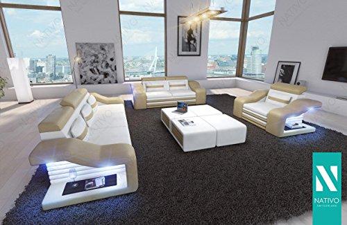Nativo C Kunstledersofa Mirage 3 2 1 Mit Led Beleuchtung Sofa Couch