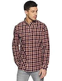Amazon Brand - Inkast Denim Co. Men's Checkered Casual Shirt