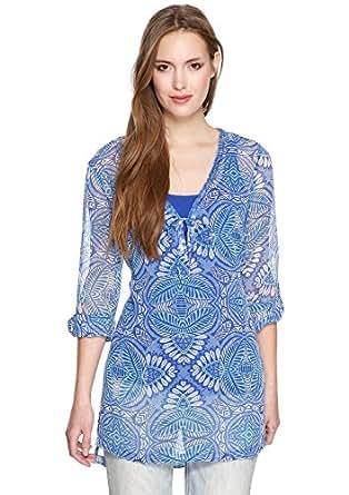 s.Oliver Damen Regular Fit Bluse 14.404.11.4873, Gr. 34, Mehrfarbig (amparo blue AOP 55A2)