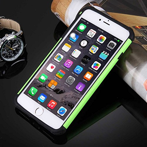 YAN Für iPhone 7 Plus Ball Texture Separate TPU + PC Schock-resistenten Kombination Fall ( Color : White ) Green