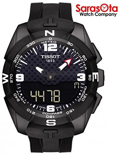 Tissot t-touch Expert t091.420.47.057.01quadrante nero gomma solare orologio da uomo