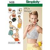 Simplicity Sewing Pattern 1426– Patron de couture poursoutien-gorge Vintage Années 50pour femme Tailles: 42-50
