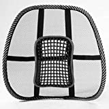 PETUNIA Massage Vent Mesh Lumbar Lower Back Brace Support Car Seat Chair Cushion Pad - Black