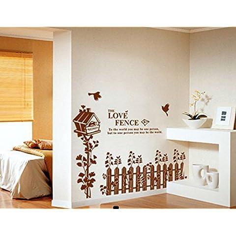 ourbest buzón valla pegatinas de papel adhesivo de pared decoración del hogar para sala de estar 60* 90cm