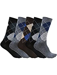 S.S Enterprises Cotton Formal, Casual, Partywear mid calf \ankle Socks for Men (Combo Pack of 5)