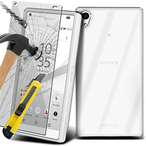 (Clear) Étui pour Apple iPhone 6s Case Survivor durable TPU Gel Clear Case Couverture de haute qualité de la peau + aluminium intra-auriculaires par i-Tronixs TPU clear case+ TempeRed + Glass
