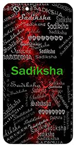 Sadiksha (Good Intention) Name & Sign Printed All over customize & Personalized!! Protective back cover for your Smart Phone : Motorola Moto - X ( 1st Gen )