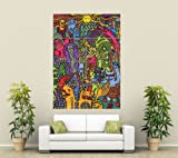 PSYCHEDELIC MUSHROOM WEIRD COOL ART HUGE GIANT ART PRINT PICTURE ST864