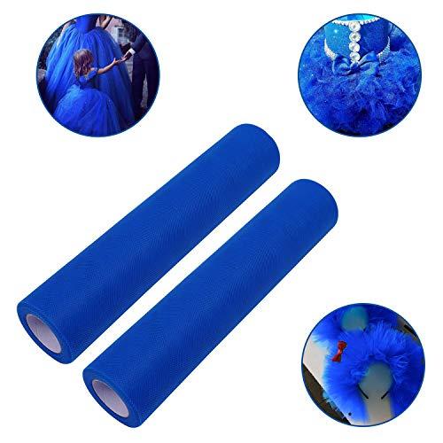 Rollo de Tul Azul Real Pack de 2 2x 25 Metros
