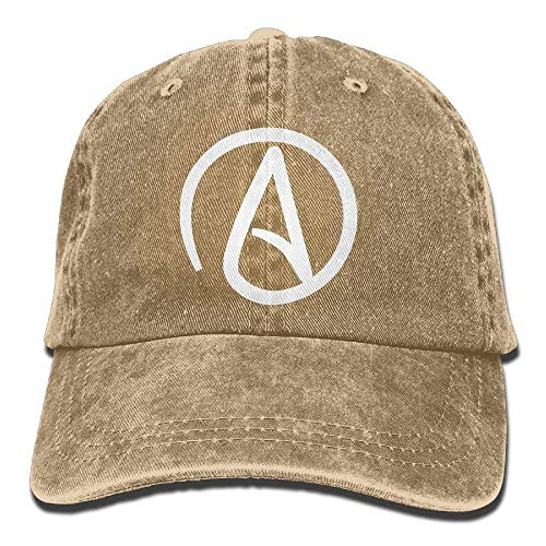 HTHYTJC Atheist Sign Plain Adjustable Cowboy Cap Denim Hat for Women and Men