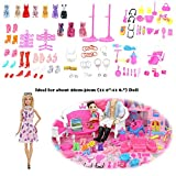 never-hu 106PCS Doll Clothing & Shoes - Accesorios para muñecas -...