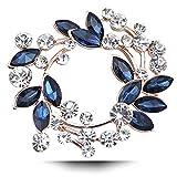 Olydmsky Fiore di Cristallo con Fiore all'occhiello di Diamanti, Colletto, Sciarpa di Seta, Accessori di Abbigliamento da Donna