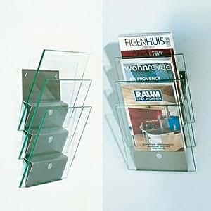 Times 2 wandzeitungshalter klarglas k che for Wohndesign zum anklicken