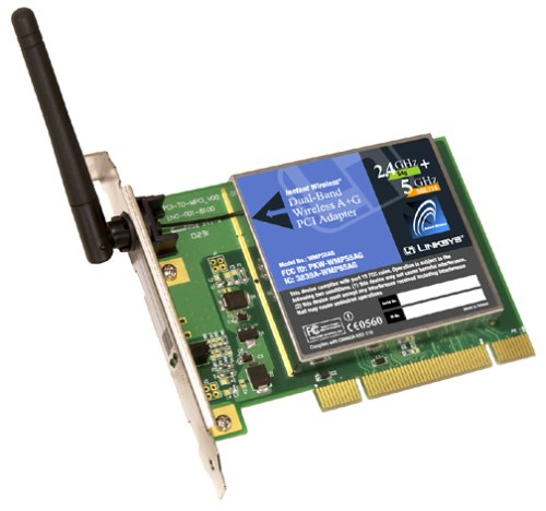 Cisco-Linksys WMP55AG Dual-Band Wireless A+G PCI Adapter (Wireless-netzwerk-adapter Cisco)