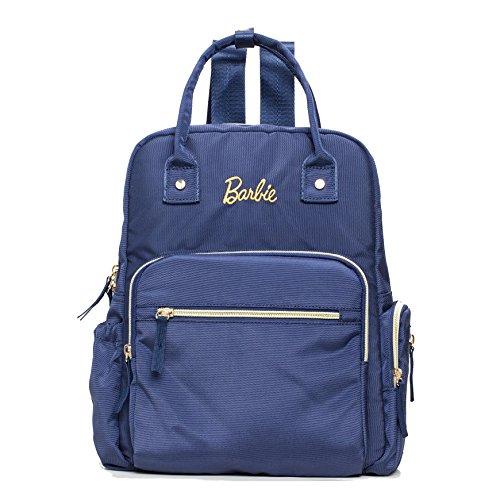 Barbie Zaino da Viaggio per Mamma e Papà Multifunzionale e Grande capacità dalla Serie di Fashionistas Colore Blu Verde Arancione #BBBP179 Blu