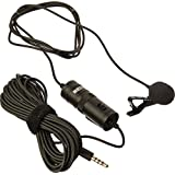 Boya BY M1 Lavalier Microphone for Smartphones, Canon, Nikon DSLR Cameras and Camcorders