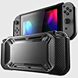 Leoie for Nintend Switch Case Rugged Protective Hard Shell Black