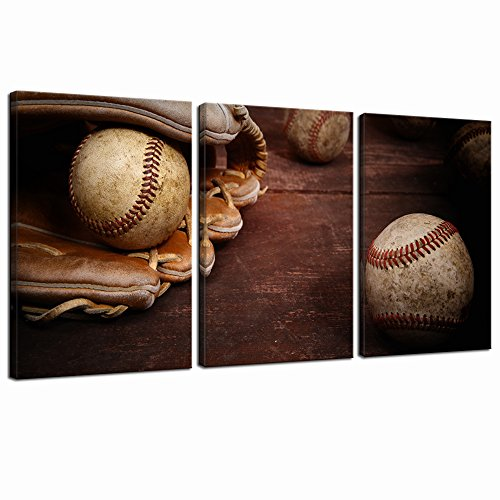 Live Art Decor Old Vintage Baseball Art Wand Sport Leinwand Gemälde gerahmt Kunstwerk für Kinder Jungen Zimmer Decor Tolles Geschenk