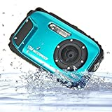 Unterwasser Kamera Stoga CGT002 2,7 Zoll LCD Digitalkamera 16MP Video Camcorder wasserdicht Kamera Zoom Video Recorder + 8 X Zoom Cam-blau