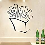 haoziggdeshoop Pommes Frites Kunst Wandaufkleber Aushöhlen Design Vinyl Aufkleber Küche Restaurant Pub Decor Abnehmbare Dekoration Aufkleber 58X65 cm
