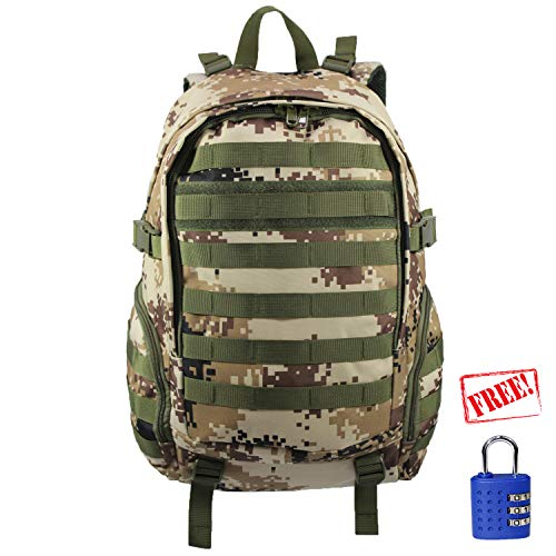 Machu Mountain Camo Commuter Series-Tactical Laptop Rucksack, Perfekt für Wandern & Camping, Mehrzweck für Schule, Desert Camo -