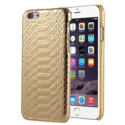 Für iPhone 6 Plus / 6s Plus, Snakeskin Texture Hard Back Cover Schutzmaßnahmen zurück Fall DEXING ( Color : Brown ) Gold