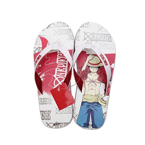 Bromeo One Piece Anime Unisex Flip Flops Zehentrenner Flip Pantoffeln 37