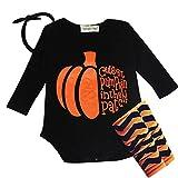 Costumes Vêtements de bébé citrouille d'Halloween Outfit Newborn Set Romper Bandeau chaud Legging En Shiningup